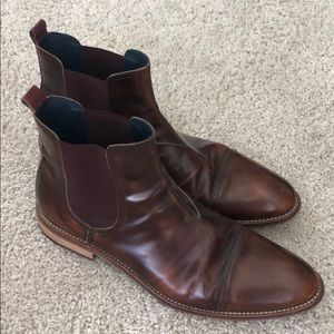 Johnston & Murphy size 13 Italian leather boots